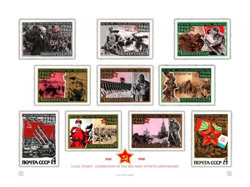 051-Red Army stamps